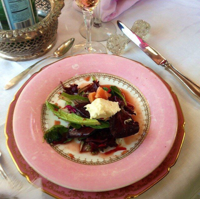 Salad with Rocchetta Cheese and Poached  Quince.