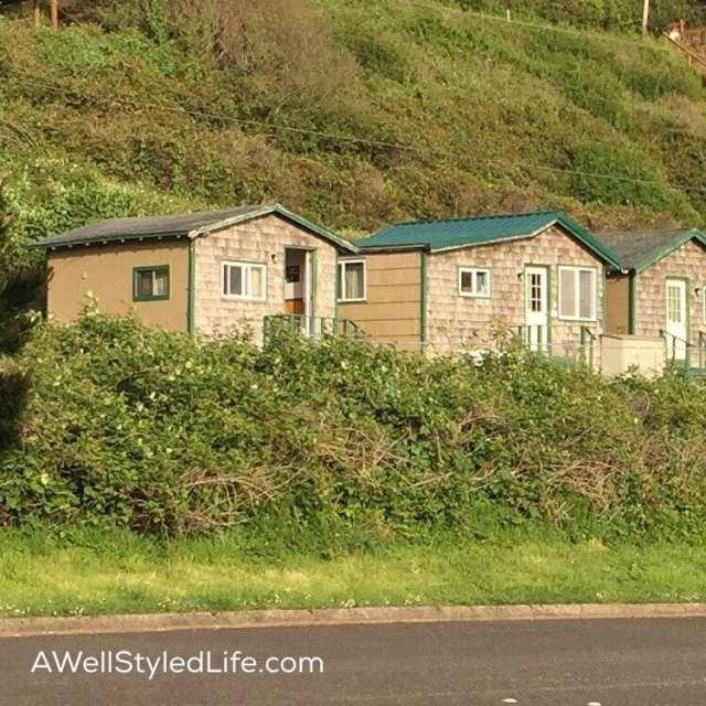 Tiny cabins in Oceanside Oregan
