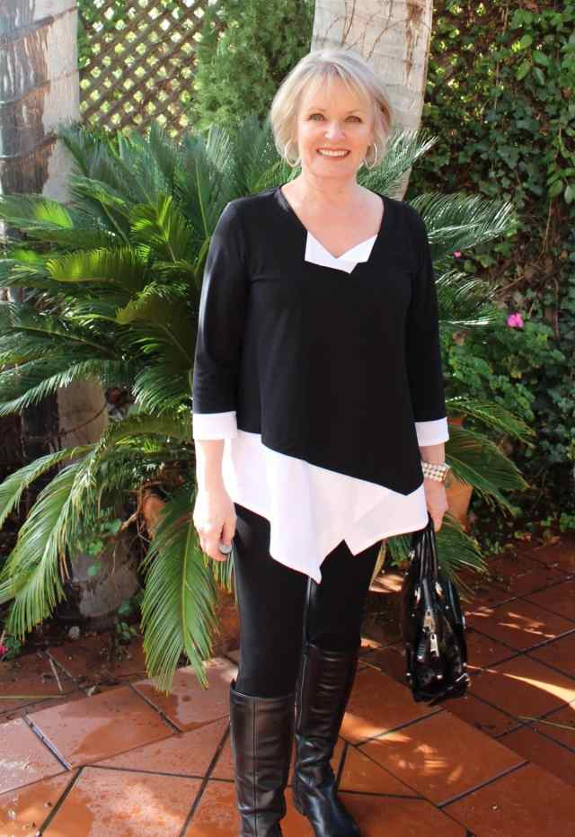 Jennifer Connolly of A Well Styled Life wearing a top from Artful Home