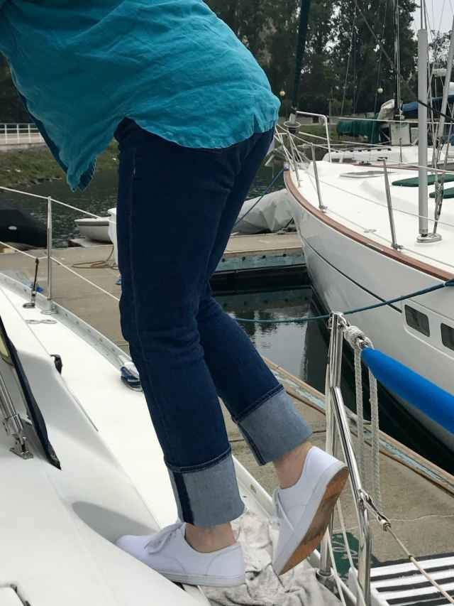 Jennifer Connolly of A well Styled life ion Parker Smith Jeans