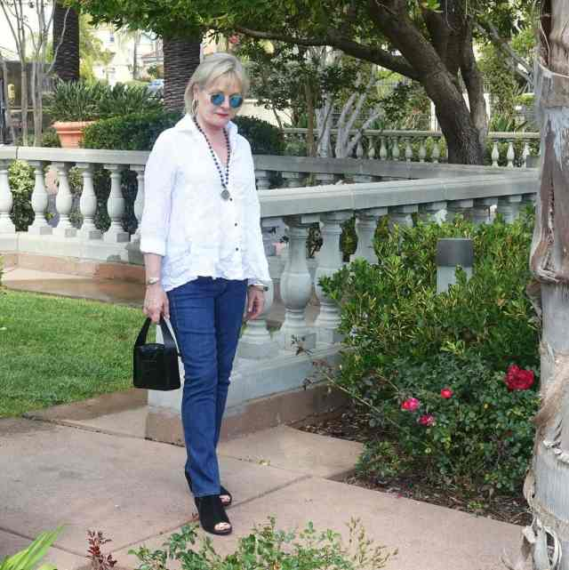 Jennifer Connolly wearing Parker SAmith Jeans from Artful Home