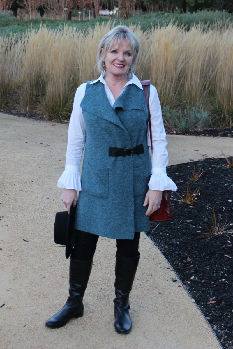 Jennifer Connolly of A Well Styled Life wearing Soft Surroundings vest