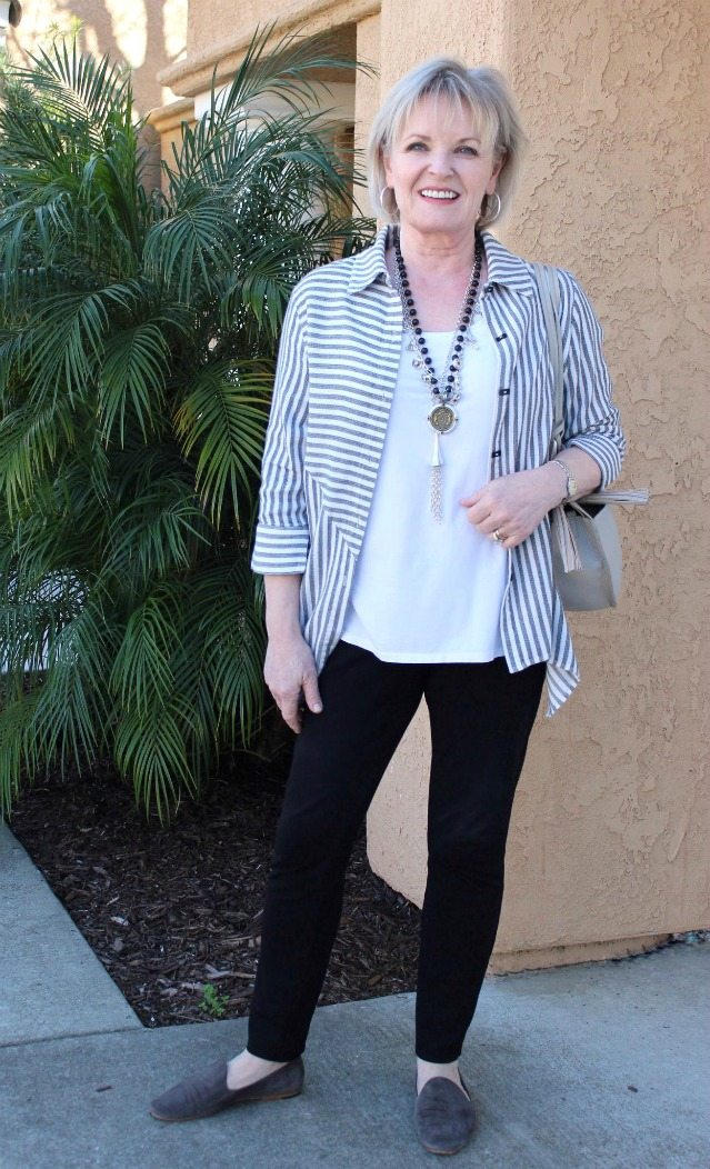 Jennifer Connolly of A Well Styled Life wearing Standout Shirt from Soft Surroundings