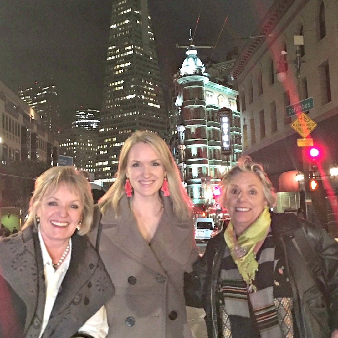 The Connolly women in North Beach