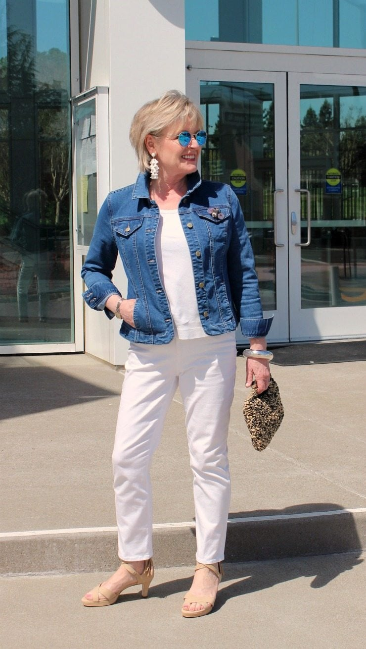 Jennifer Connolly of A Well Styled Life wearing Stella platform by Adrian Allen