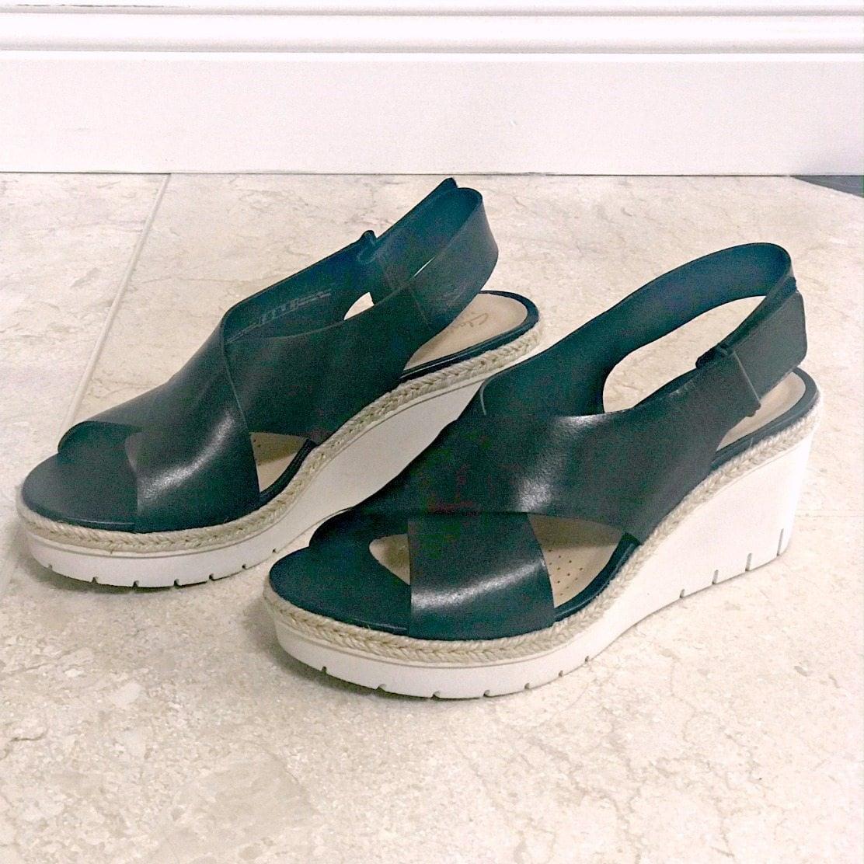 Clarks Palm Glow wedge sandals