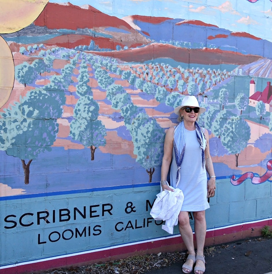 Jennifer Connolly of A Well Styled Life discovering downtown Loomis