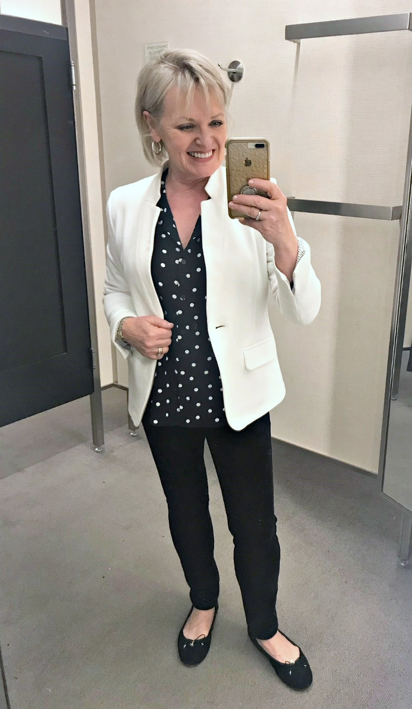 Jennifer Connolly of A Well Styled Life styling Gibson jacket from Nordstrom