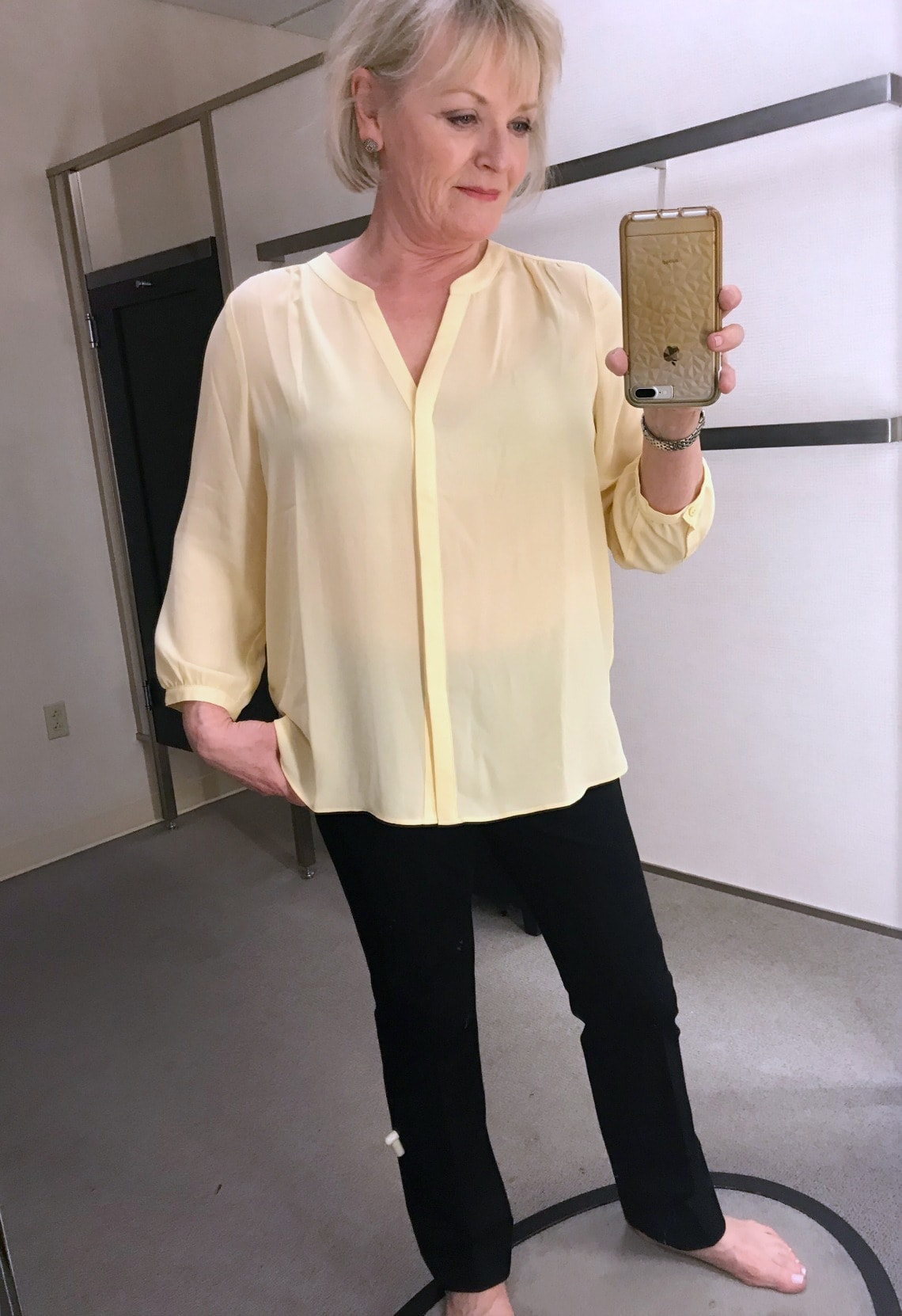 yellow blouse from NYDJ