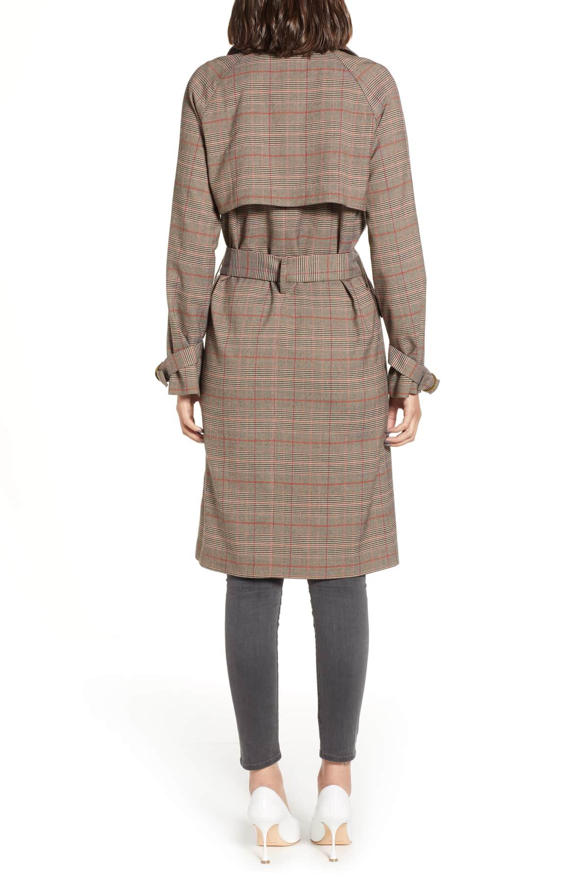 ventless trench coat