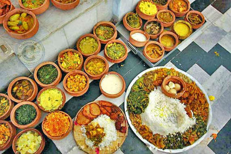 Food from Orissa, India.