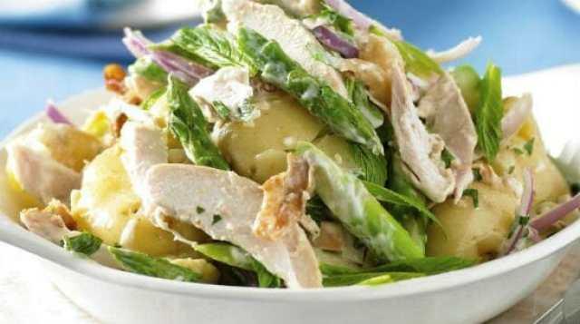 warm potato chicken salad - Warm Potato and Chicken Salad