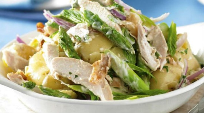 warm potato chicken salad - Warm Potato and Chicken Salad