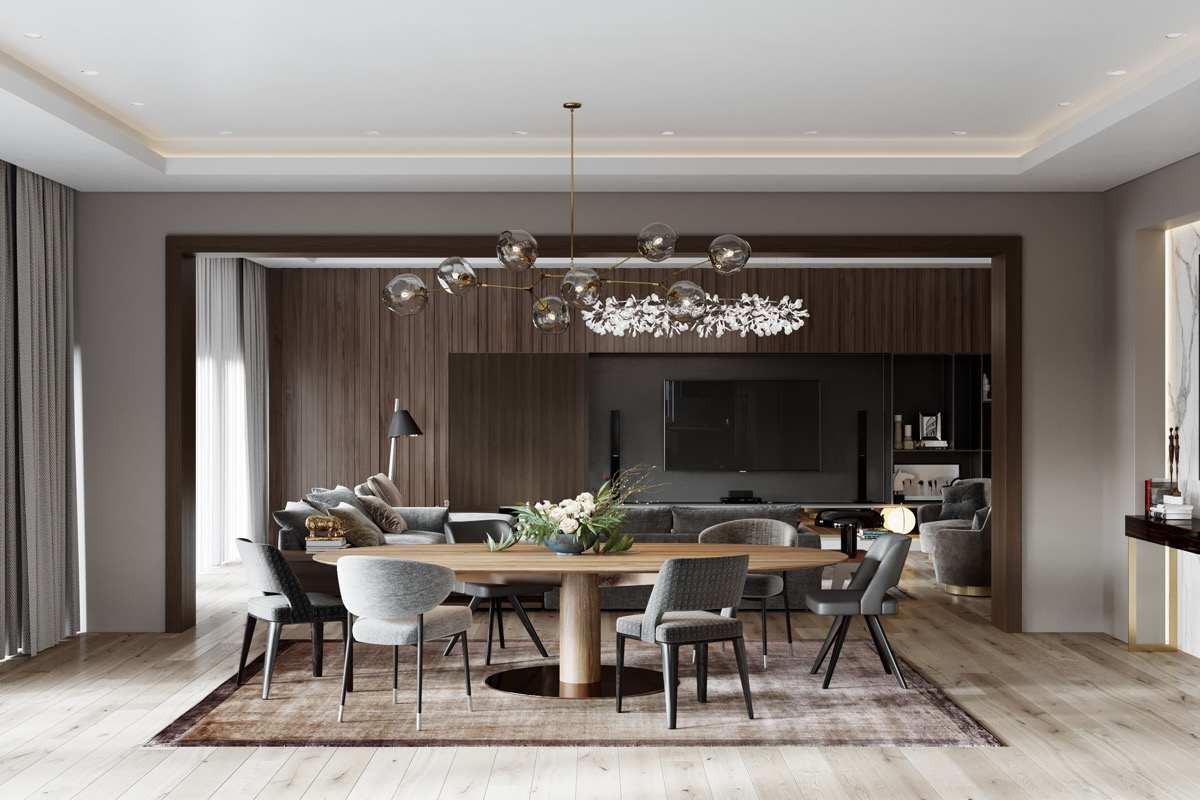 Modern Luxury Dining Room Sets Awesome Decors