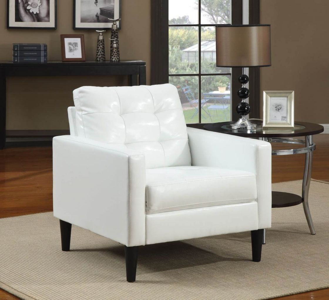 37 White Modern Accent Chairs For The Living Room Throughout