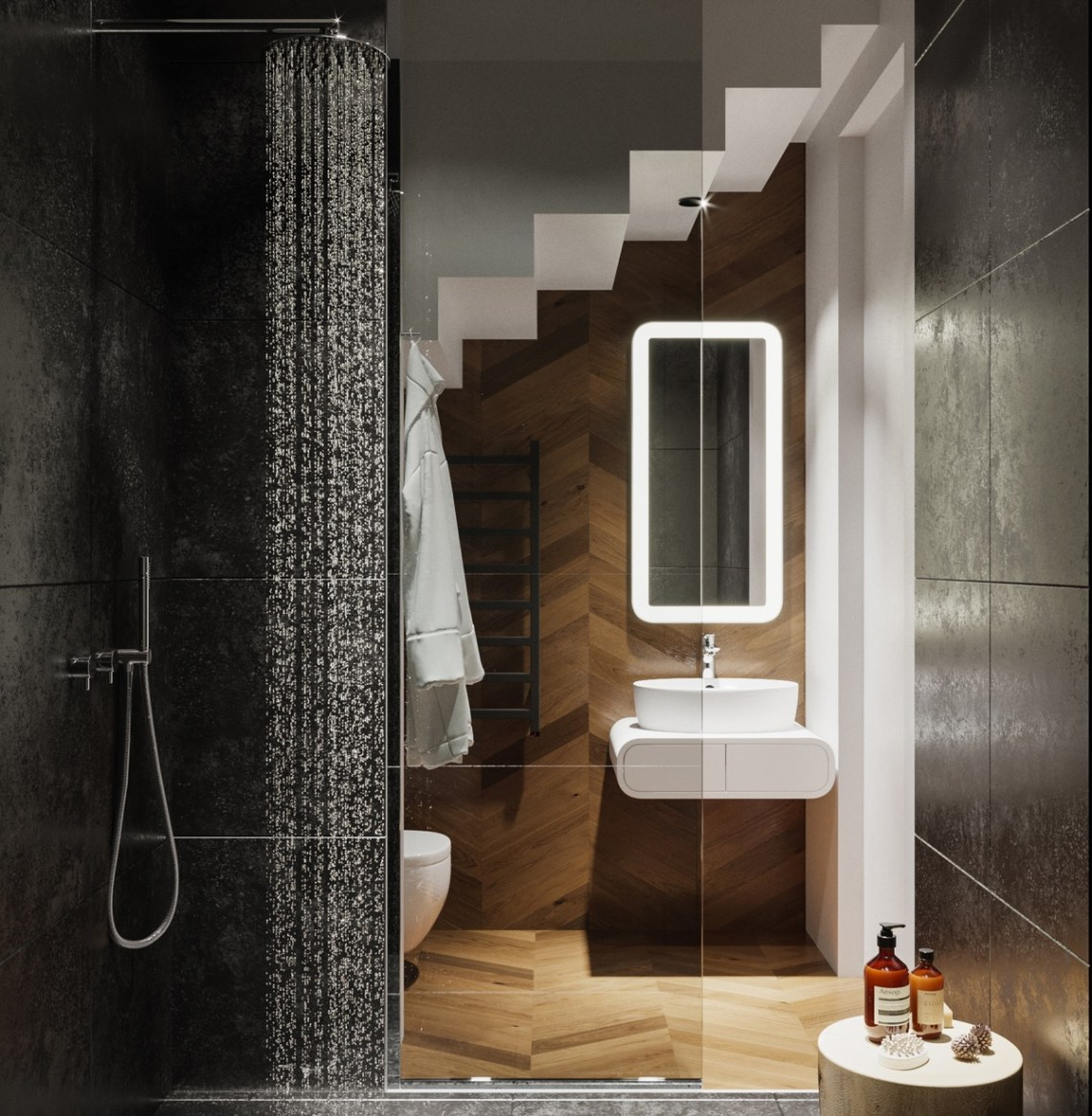 Small-modern-bathroom-vanity-unit - Awesome Decors