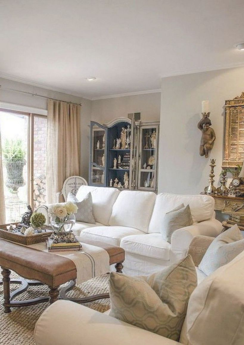 60 Fancy French Country Living Room Decor Ideas Interiors
