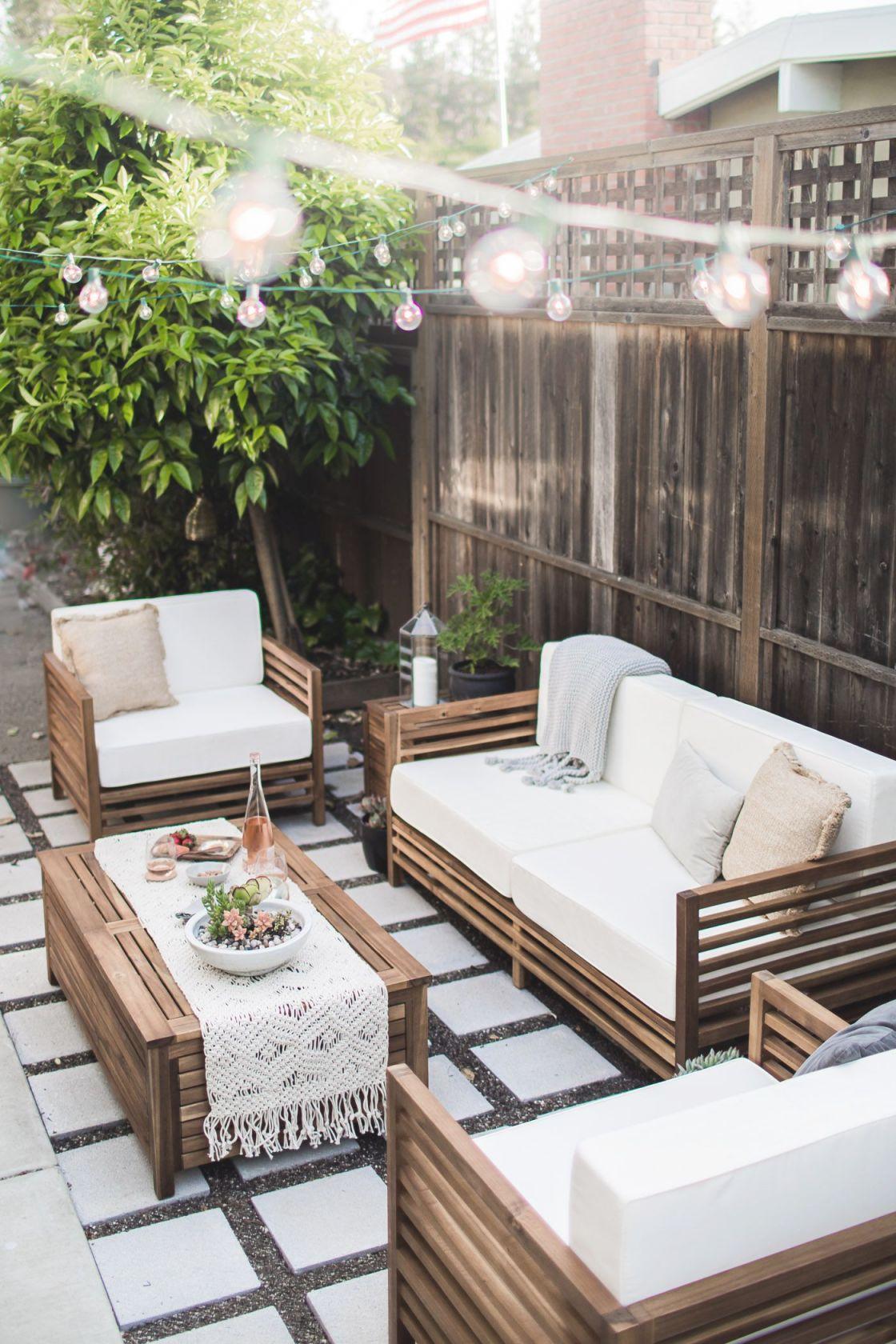 unique outdoor living room furniture