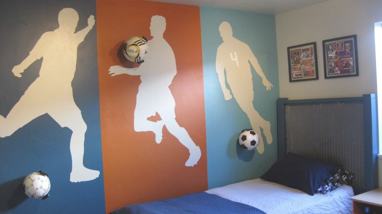 15 cool teenage boy room ideas soccer