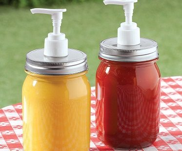 Mason Jar Condiment Dispensers
