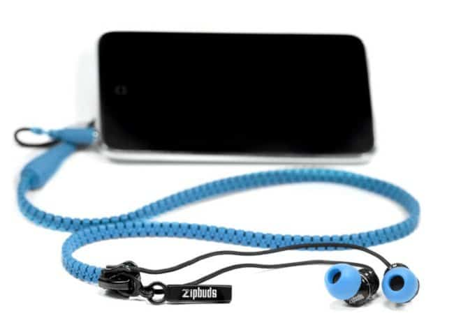 anti-tangle zip up earphones