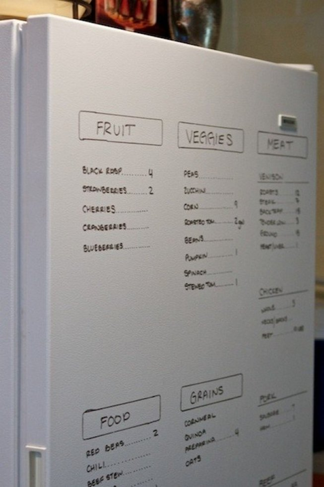 fridge writing