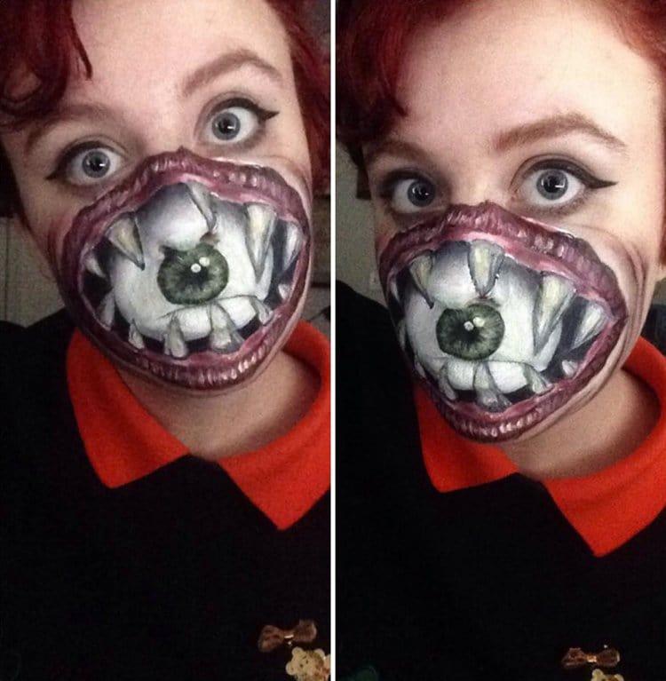 Evil Drawing Bear Eyes
