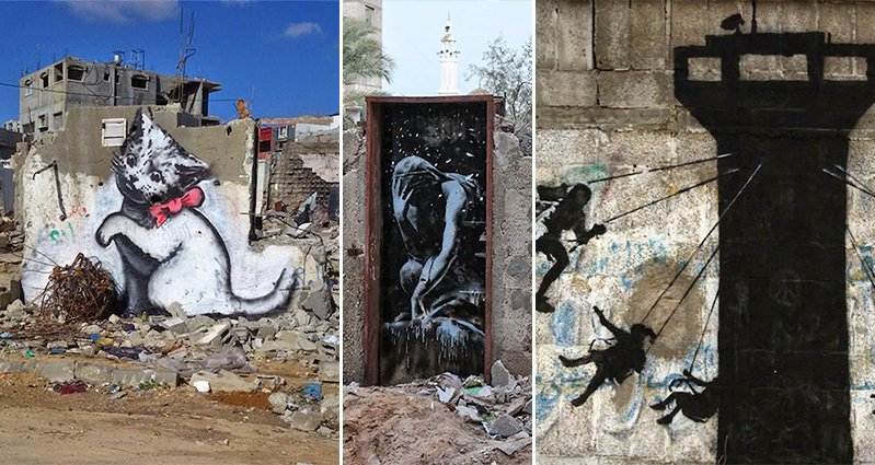 Street Artist Banksy Sneaks Into Gaza To Create