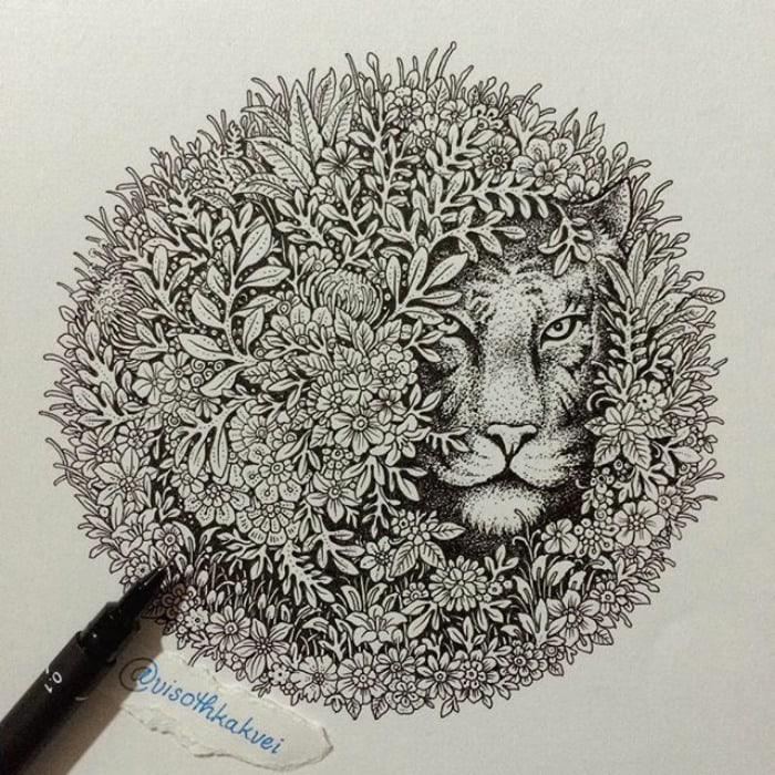 Cambodian Artist Visoth Kakvei Is Taking Doodling To