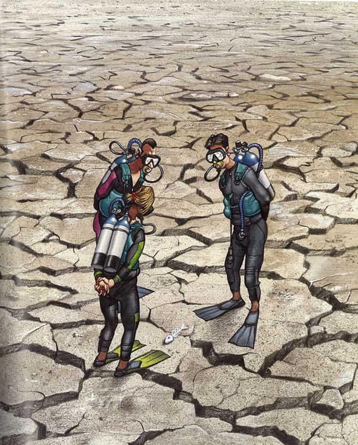 no-more-water-to-swim-satirical-illustrations