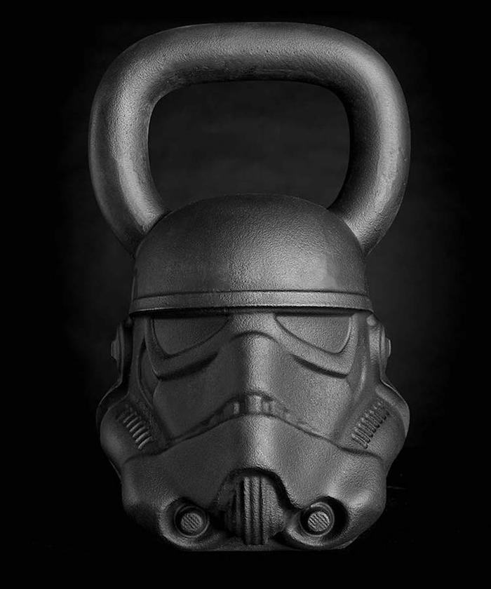 imperial stormtrooper kettleball onnit star wars-themed fitness equipment