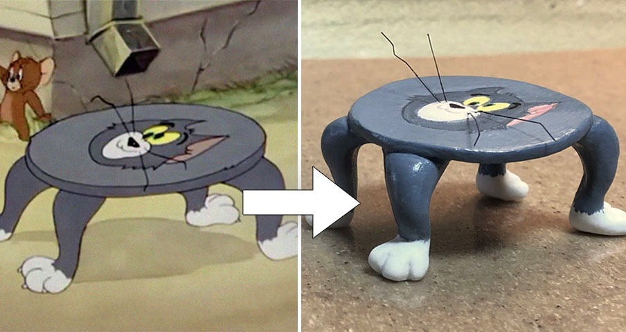 Japanese Sculptor Turns Tom And Jerry S Most Unfortunate Moments