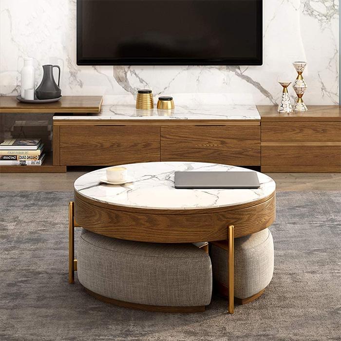 this space saving coffee table has