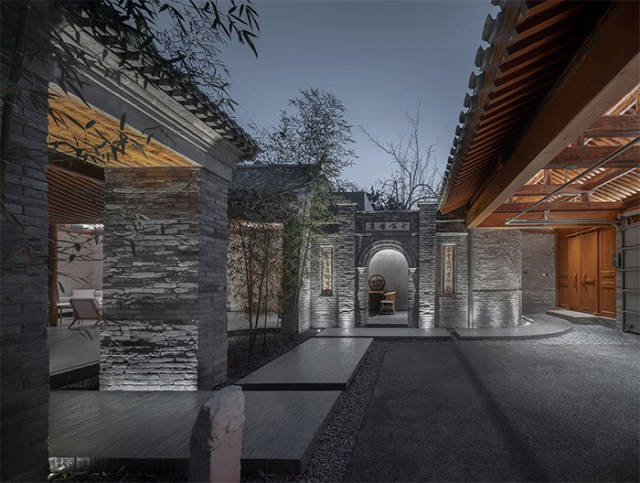traditional chinese courtyard modern style
