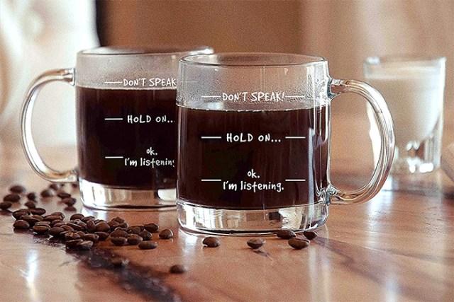 dont speak funny coffee mug