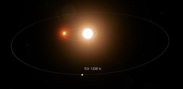 planet toi 1338b orbiting stars