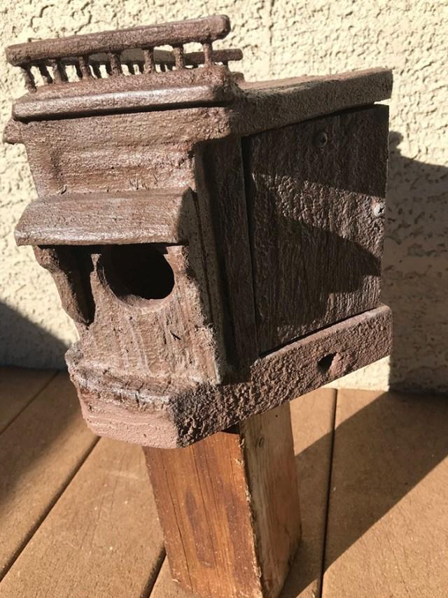 eggsactlybirdhouses wooden outdoor bird feeder