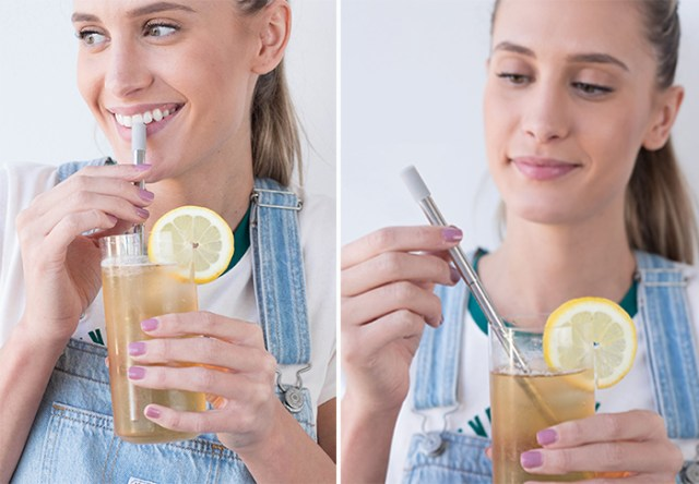 portable reusable drinking straw stainless steel