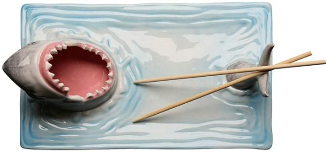 ceramic shark attack sushi platter