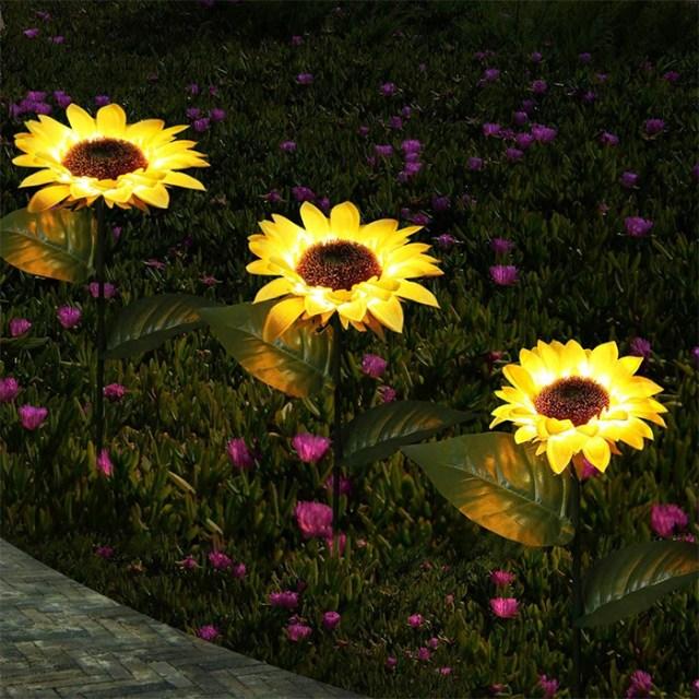light up faux flowers illuminated