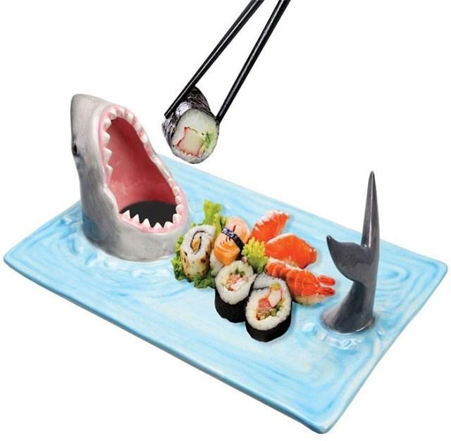 shark attack sushi platter