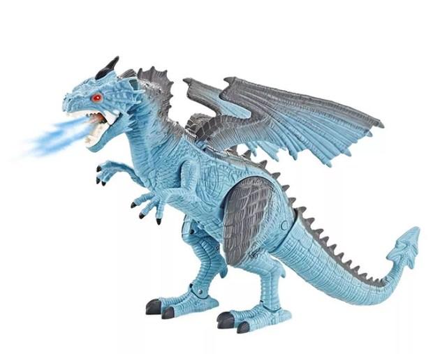 steam-breathing dragon light up