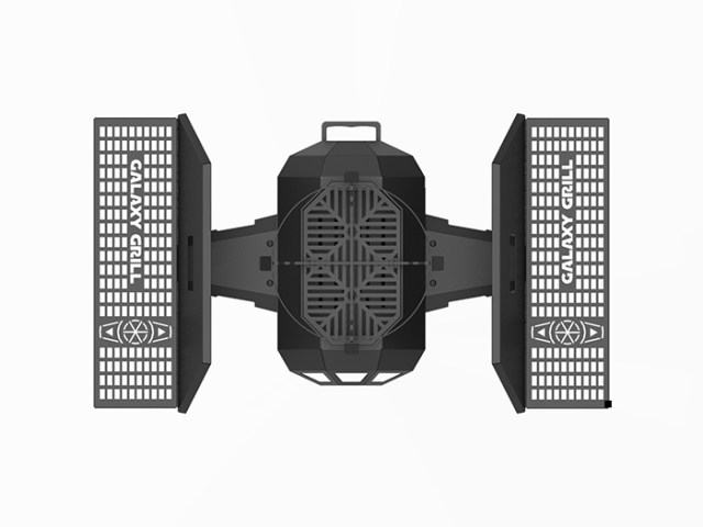 tie fighter bbq grill expanded side shelves