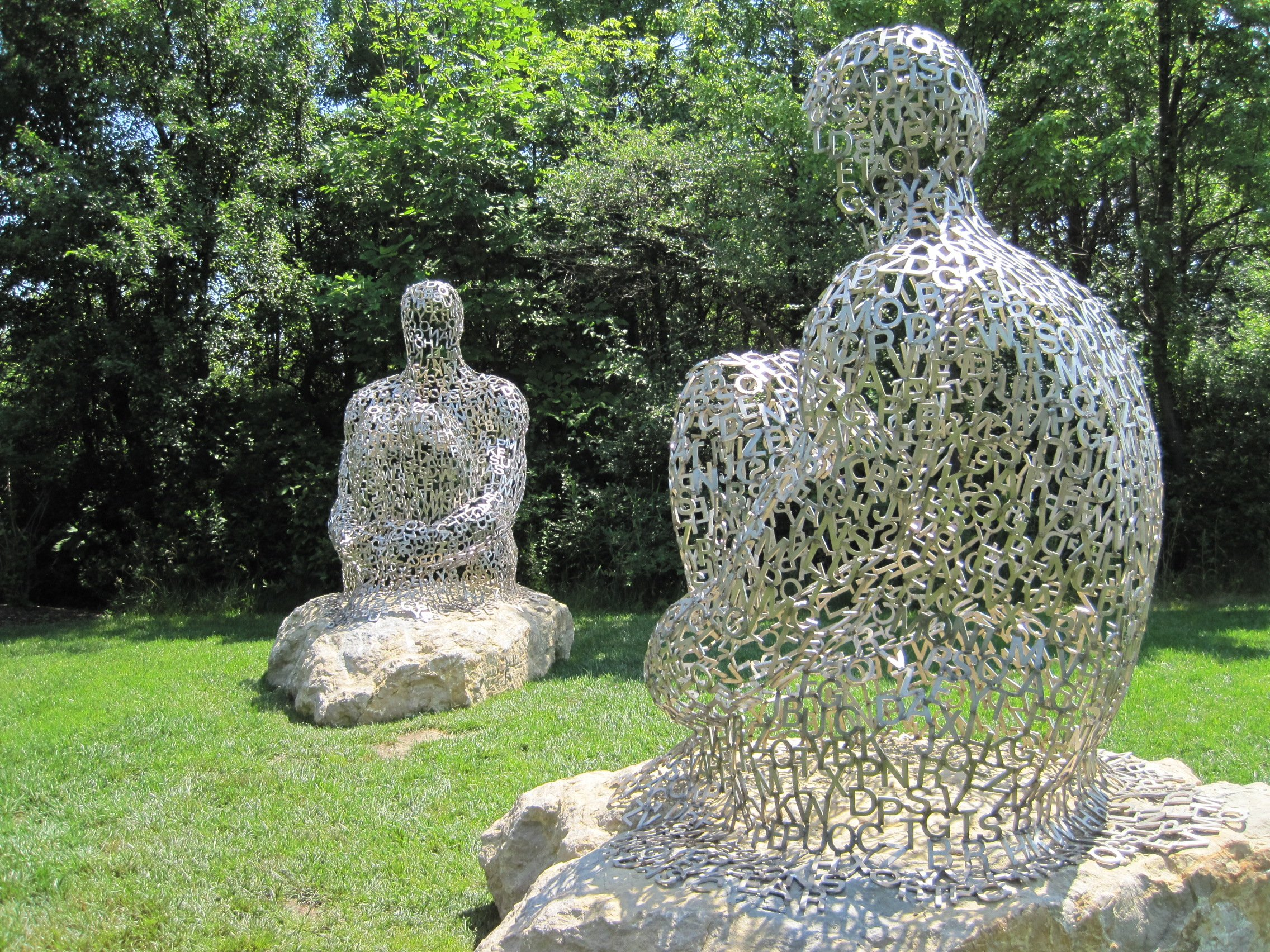 how to make metal garden sculptures