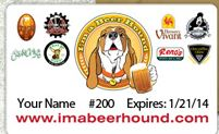 I'm a Beer Hound Membership Card - The Awesome Mitten