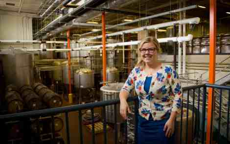 Laura Bell at Bell's Brewery Production Facility - The Awesome Mitten