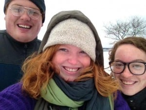 Some of the fam and I in all our wintry glory.