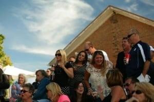 Crowd at Cherry Creek Old Schoolhouse Vineyard during Summer Vineyard Concert Series