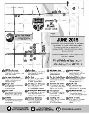 Venue map from the June 2015 FFY Art Walk