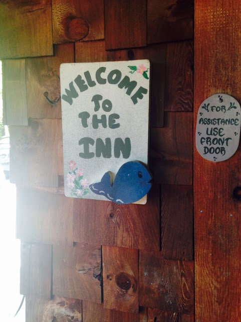 Cute sign at The Whaleback Inn. #MittenTrip Leland - The Awesome Mitten